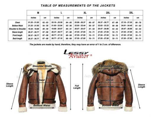 Lessy Aviator Bomber B3 Jacket Leather